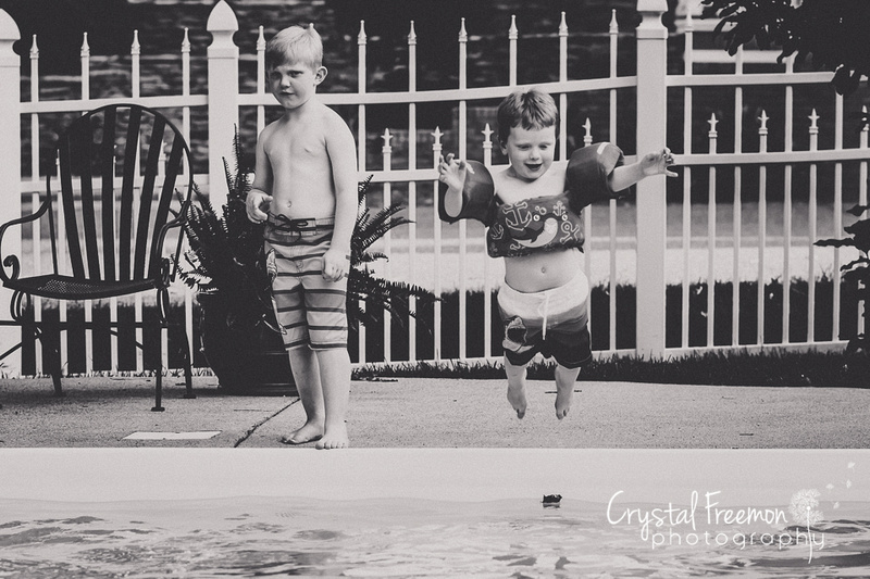 Summer family fun at Grandma's pool.