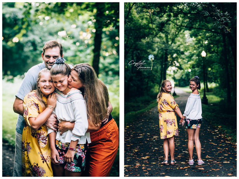 Family session with beautiful wardrobe choices summer photo session