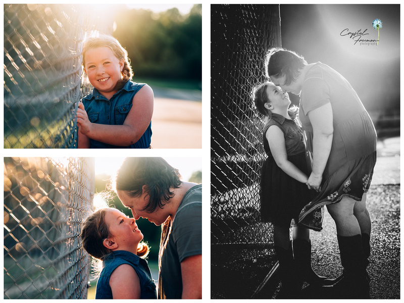 Outdoor portrait session for mother and daughter