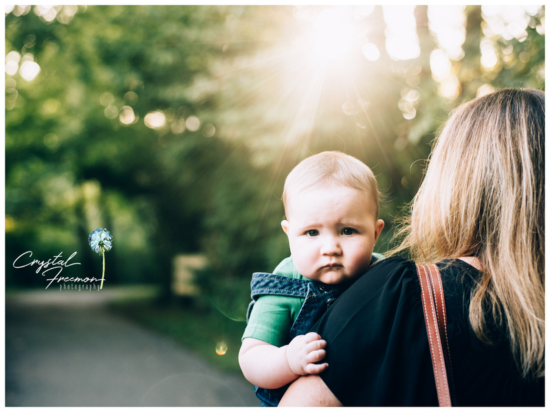 Three Year Old Portrait Session at Aspen Grove Park