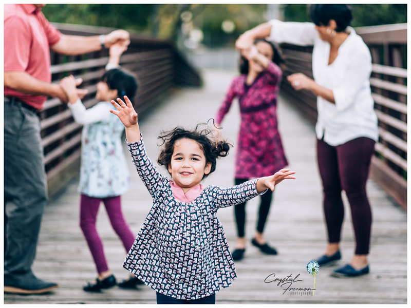 Family portraits for family of 5 with three daughters