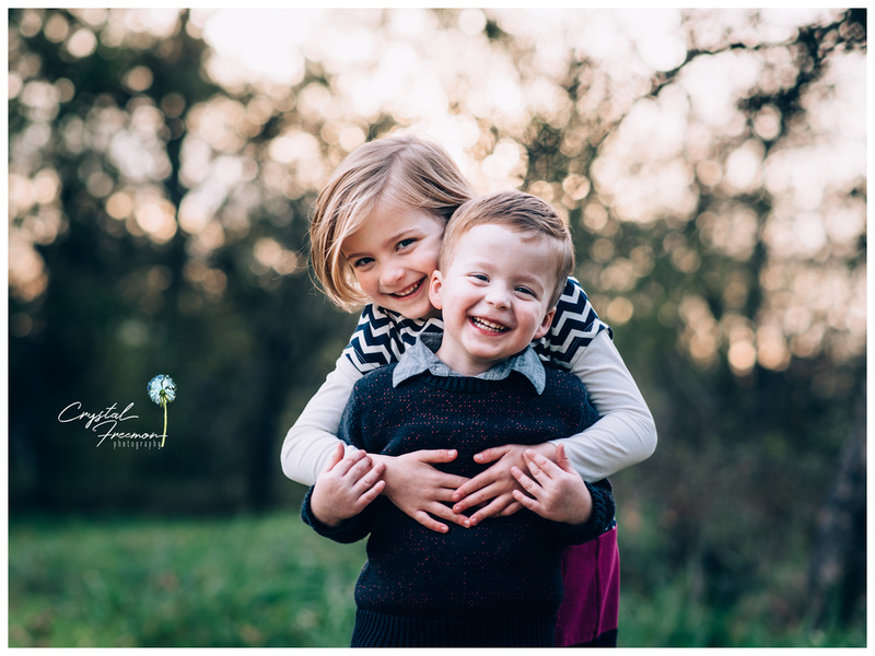 Outdoor Fall Portrait Session with a family of four in Spring Hill TN