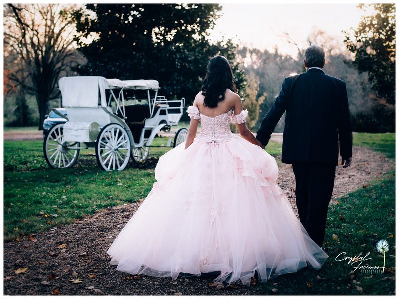 Quinceanera photos at the Homestead Manor in Spring Hill, TN