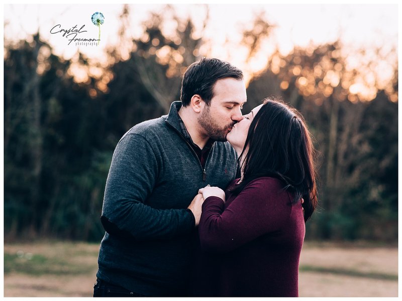 Family of three outdoor winter photo session in Spring Hill TN