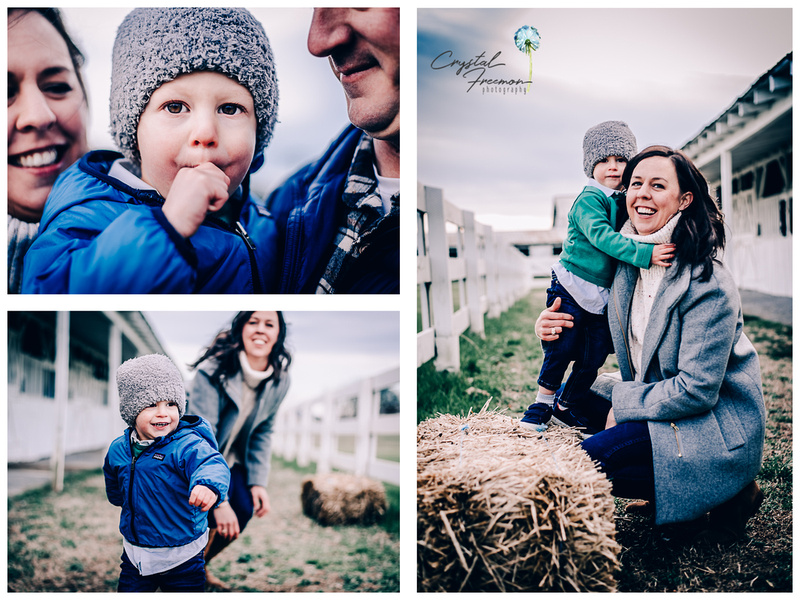 February Family Portrait Session at the Park at Harlinsdale Farms in Franklin TN