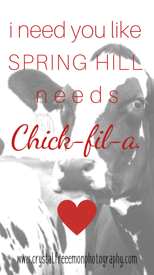 Spring Hill TN Valentine's Card Chick-fil-a