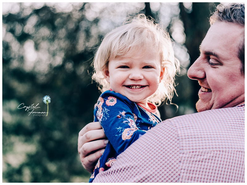 Thompson Station Park Portrait Session with an adorable family of three with toddler girl