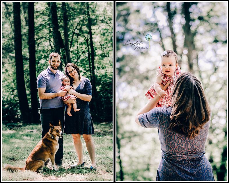 Nashville Family Photographer Family of three with baby