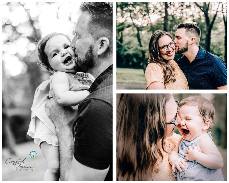 Joyful family photos at Aspen Grove Park