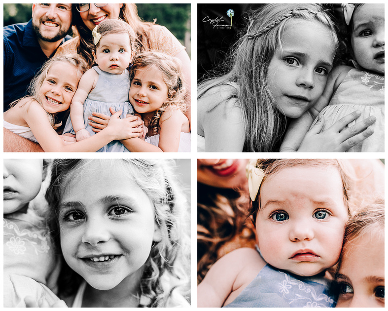 Spring Hill TN Family Portrait Photographer takes close up shots of three sisters