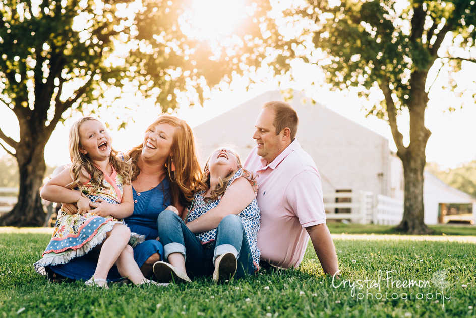 Family Portrait Session at Pinkerton Park in Franklin TN