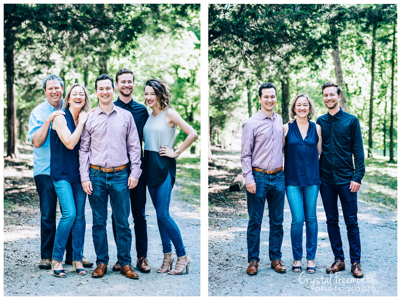 Thompson Station Park photo session - family of five with adult children