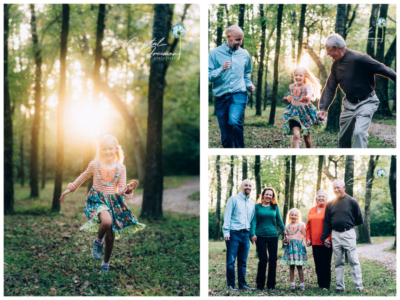 Family Portrait Photos in Aspen Grove Park in Franklin, TN