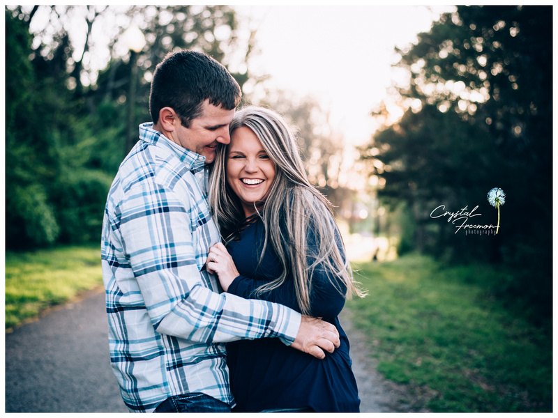 Spring Hill outdoor photo session for family of four.