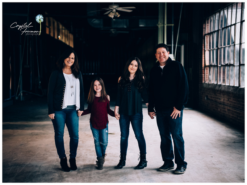 Family of four with two daughters at the Factory of Franklin