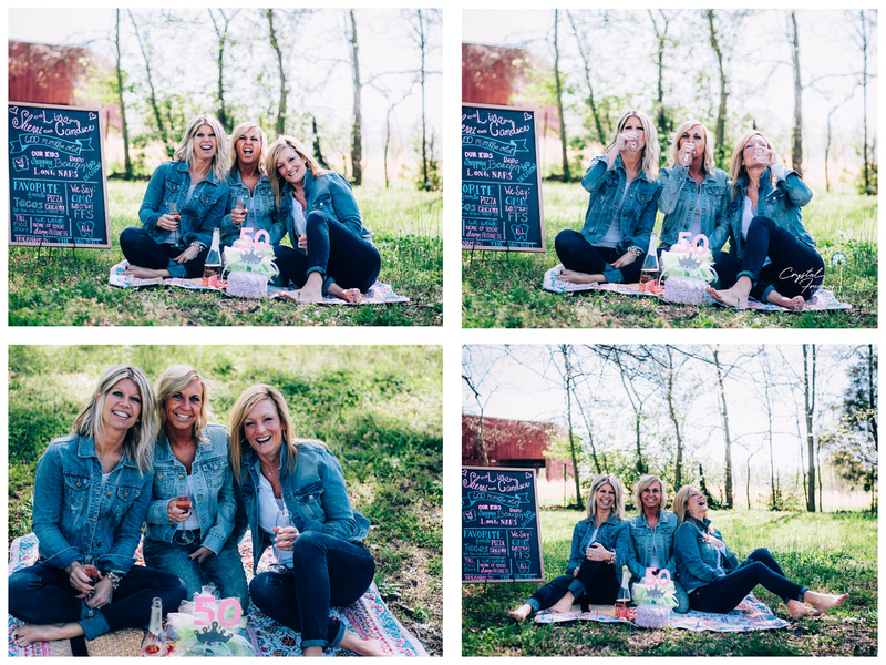 50th Birthday Cake Smash Photo Session with three old friends