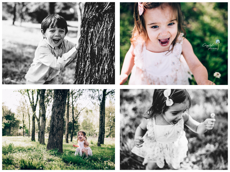 Childhood photography - Hayes & Ann explore their world