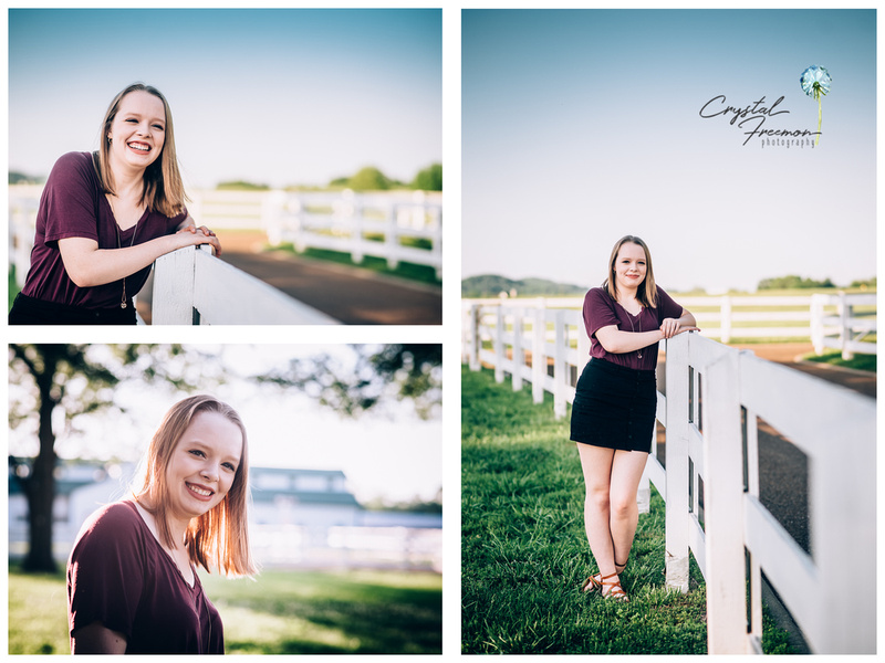 Hannah's Senior Portrait Session at the Park at Harlinsdale Farms.