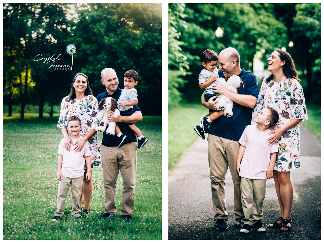 Spring Hill TN Family Outdoor Portrait session with two brothers