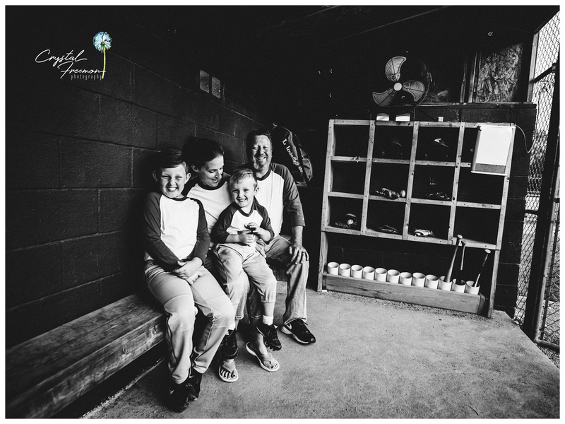 Baseball themed photo session at the ball park with two boys