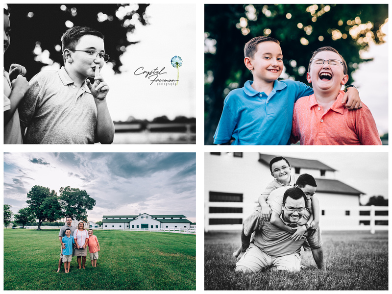 Summer Family Outdoor Portrait Session in Franklin TN