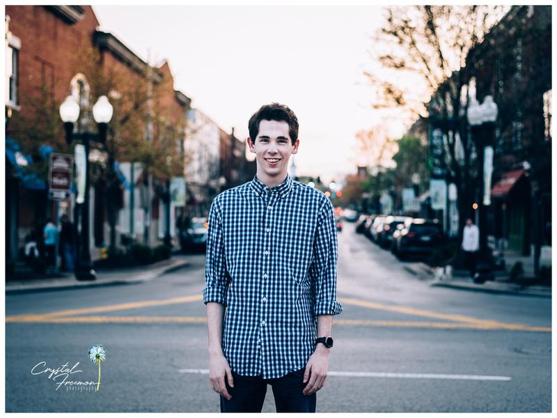 Senior Guy Portrait Session in Downtown Franklin