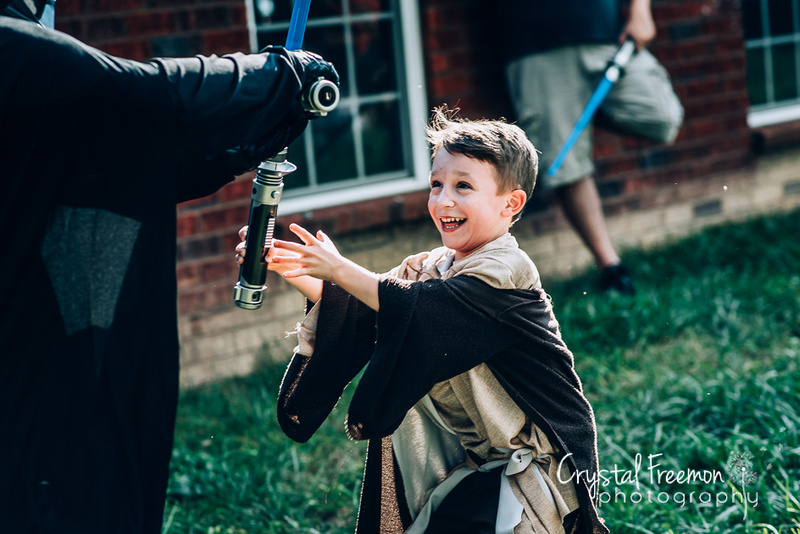 Five Year Old Boy Star Wars Themed Birthday Party in Spring Hill, TN