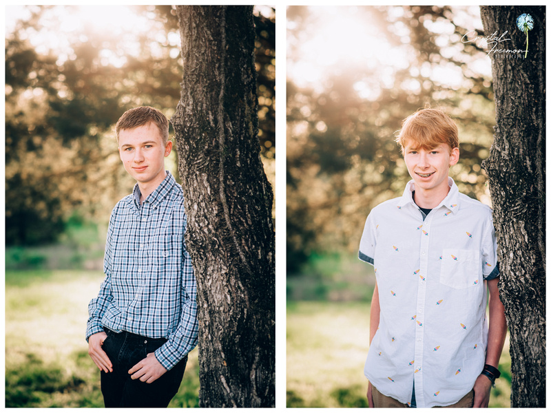 Family of Four Portrait Session with 2 teen boys in Spring Hill TN