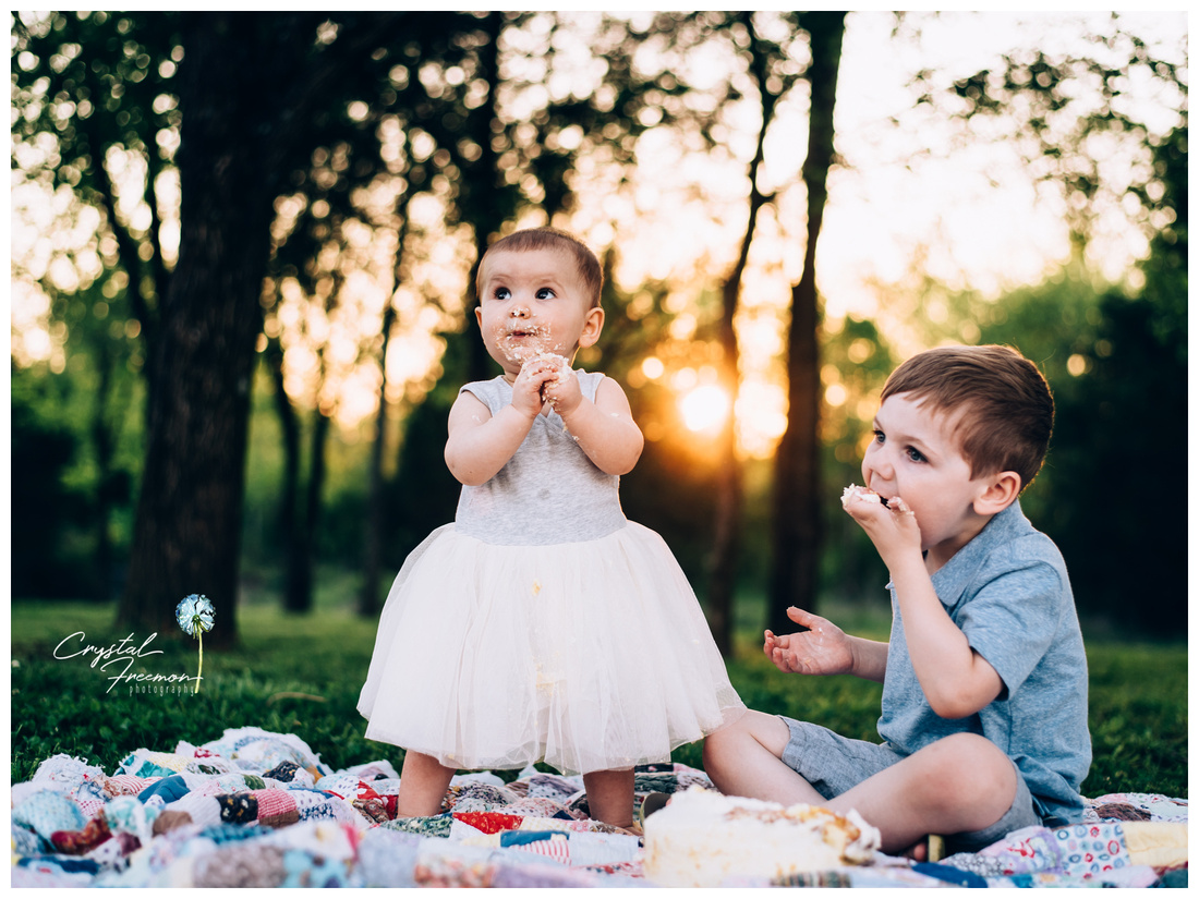 Hadley's Cake Smash and Family Portrait Session
