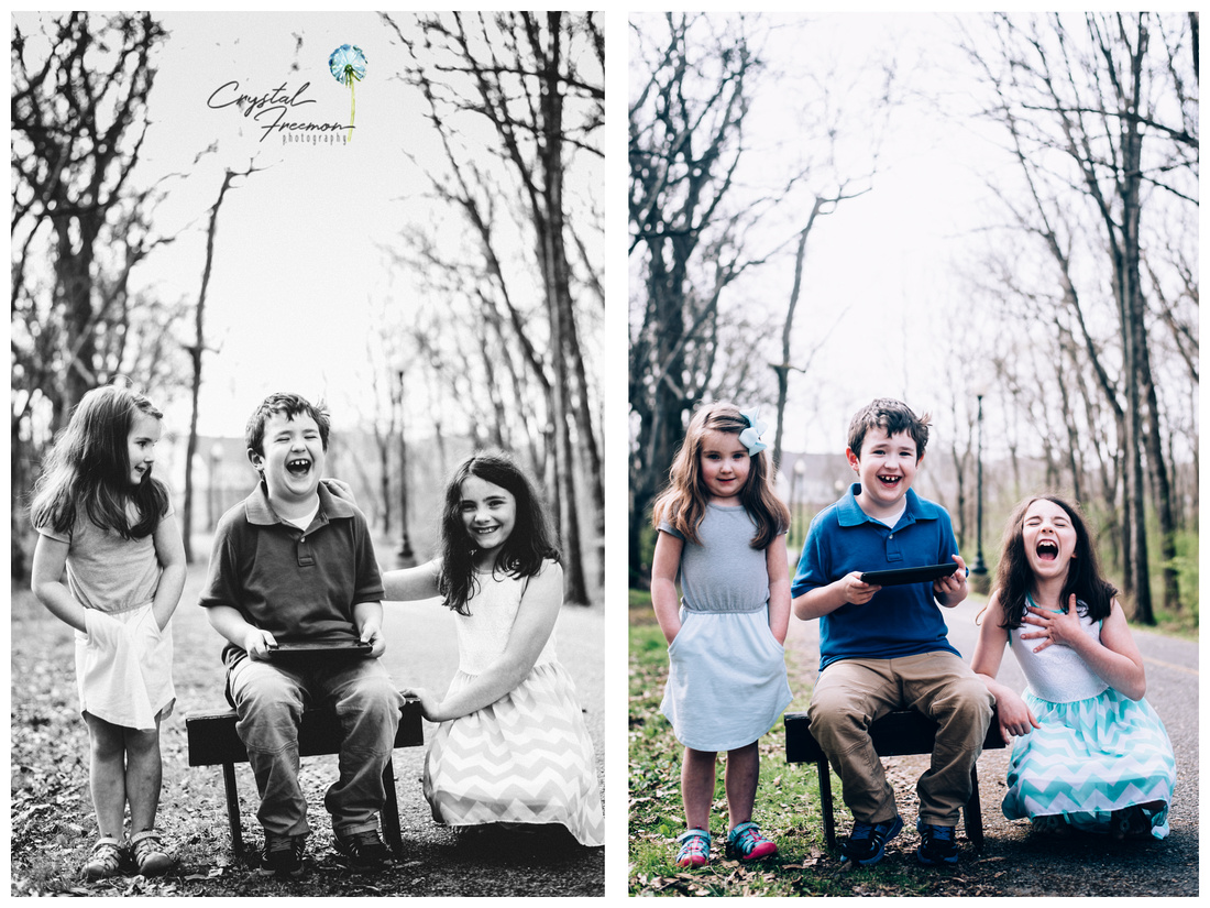 Family of 5 Spring Portrait Session in Spring Hill