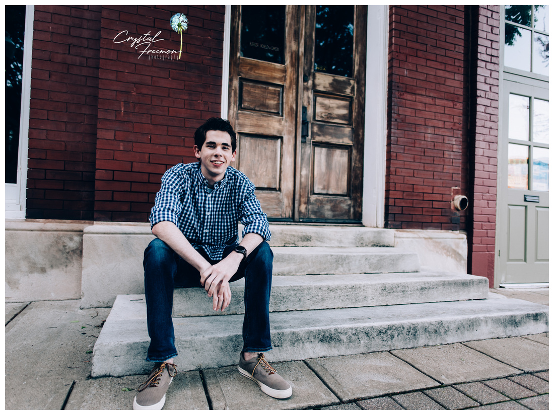 Senior Guy Portrait Session in Downtown Franklin