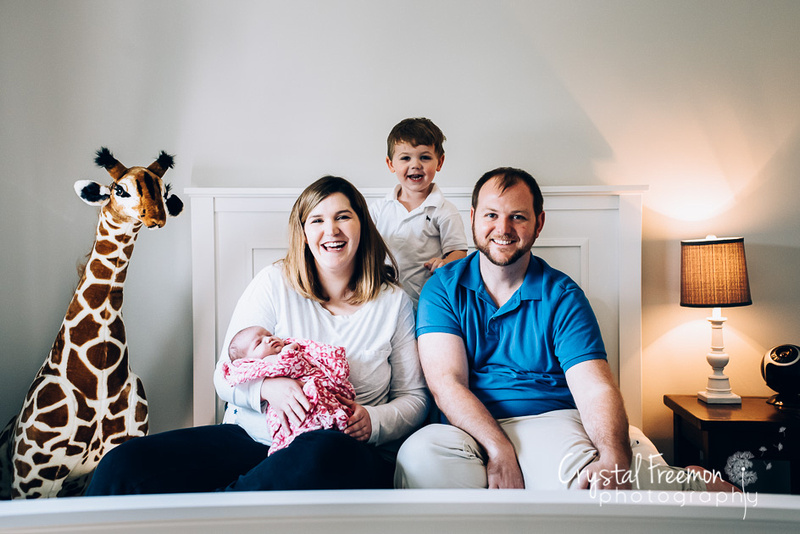 Newborn Photo Session with Newborn Sister and Adorable big Brother