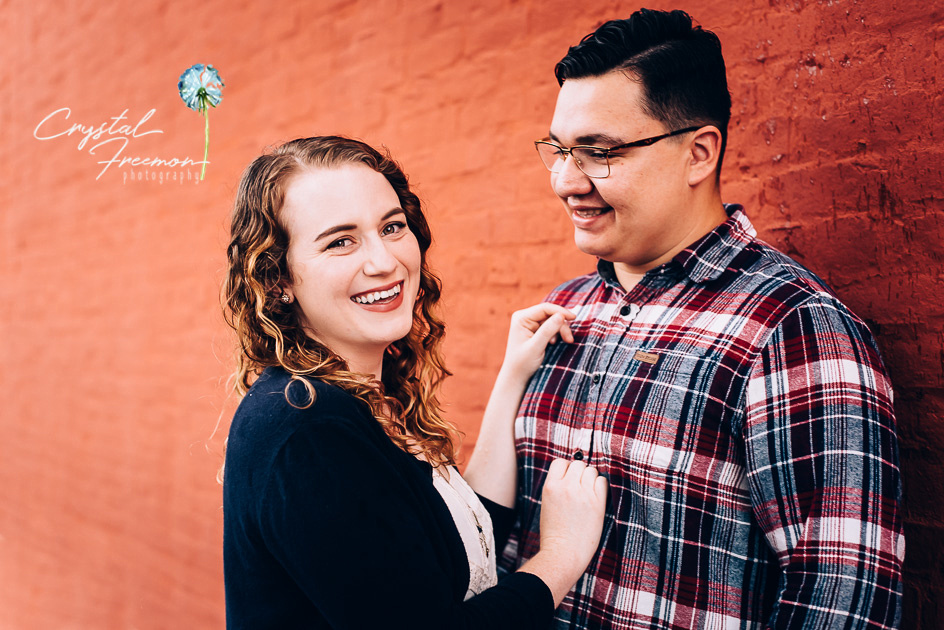 Rainy Day portrait session for a couple in Downtown Franklin