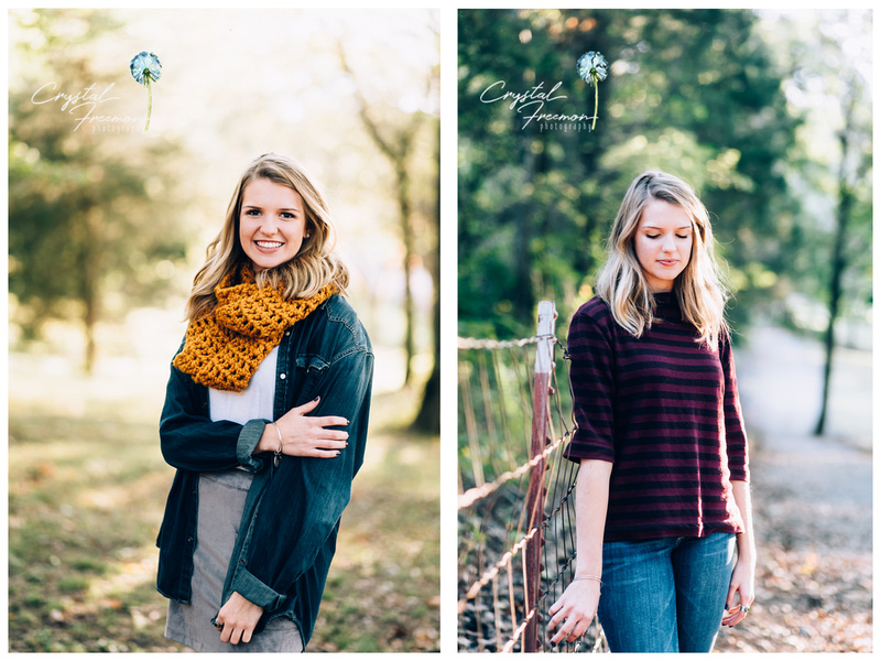 Senior Portrait Photographer at Thompson Station Park