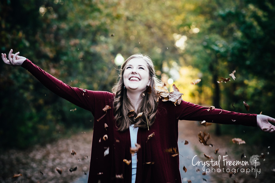 Beautiful Fall Photos of Senior Girl in Nashville, TN