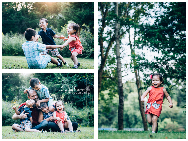 Outdoor Family Portrait Session for Family of 5 in Spring Hill, TN