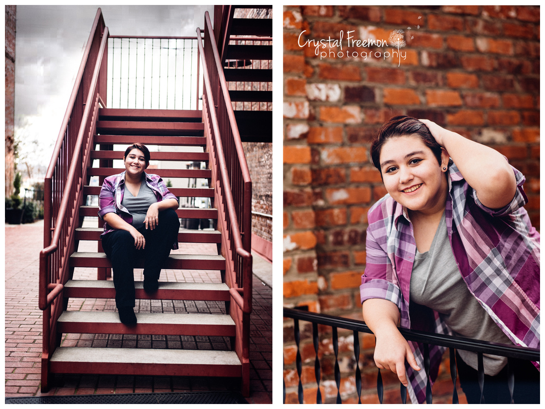 Holly's Senior Session in Downtown Columbia TN